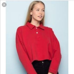 Brandy collared crop sweater